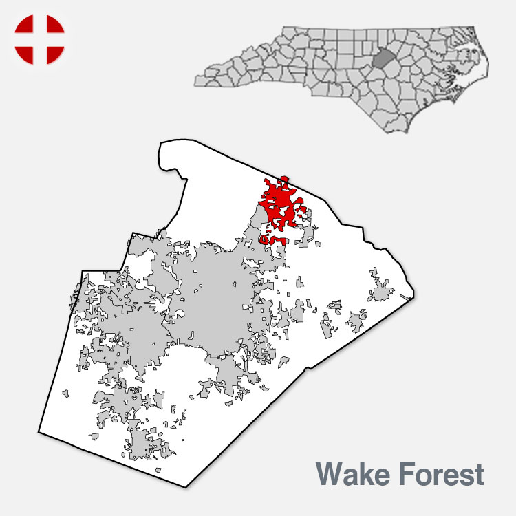Wake Forest NC - City Border