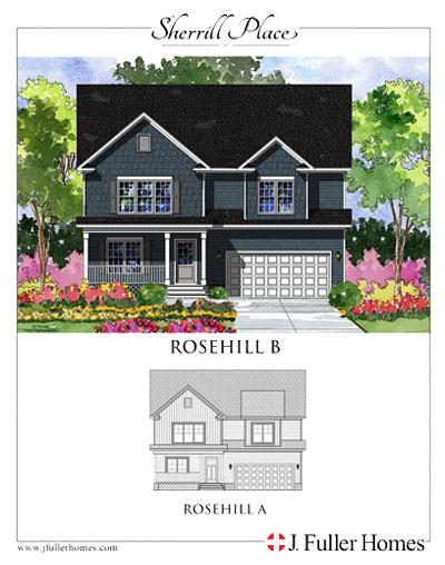 Rosehill Floorplan - Sherrill Place | Garner NC