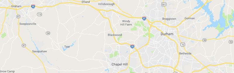 Chapel Hill NC - Google Map